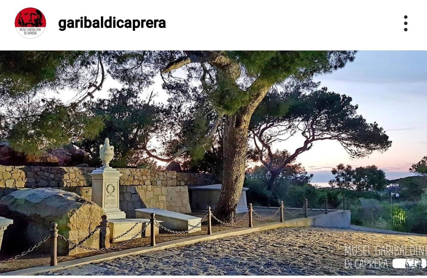 casa di Garibaldi sull'isola di Caprera