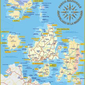 mappa delle spiagge isola di Caprera