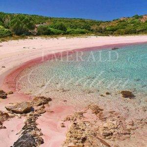 pink sand at la maddalena sardinia