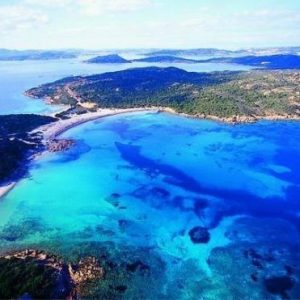 beach of the two seas caprera sardinia